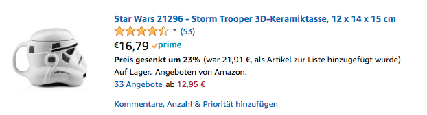 star wars storm trooper keramik tasse geek geschenk